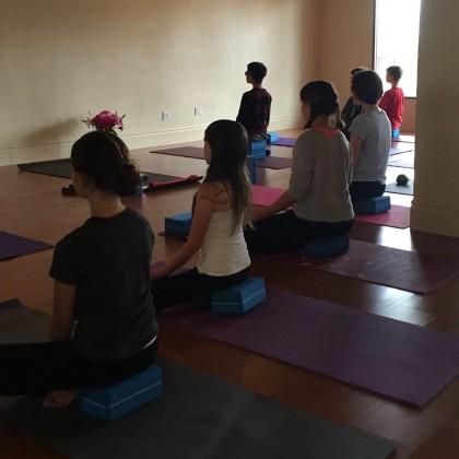 teen tween meditating