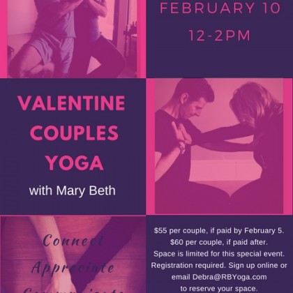 Valentine Couples Yoga 2018