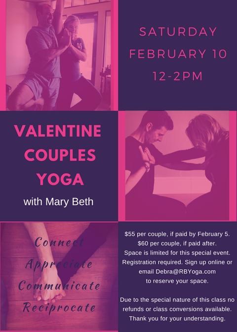 Valentine Couples Yoga 2018
