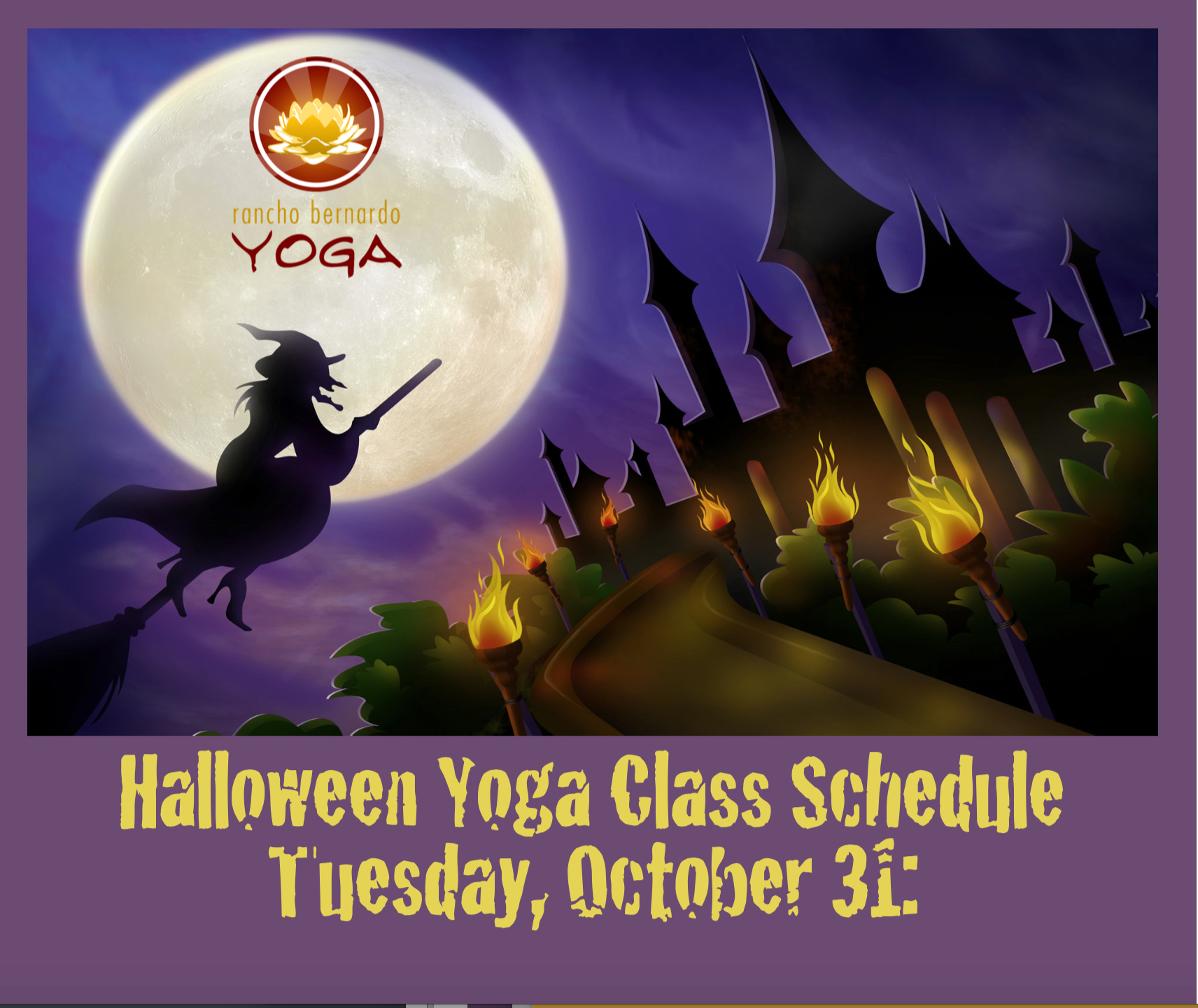 halloween class schedule tuesday oct 31 rancho bernando yoga